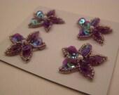 purple sequin flower embellishments