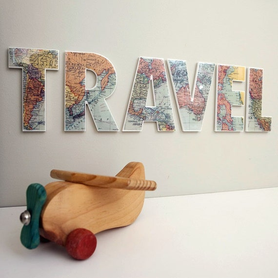 TRAVEL Decor Letters Wall Feature Inspirational Word