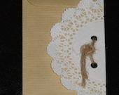 10 pcs Kraft FAVOR BAG envelope doilie lace paper 2.75 / 4 ' cookie beads 3