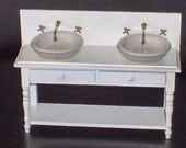 1\/12 scale miniatures MEDITERANIAN style BATHROOM FURNITURE for two doll house