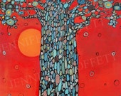 BOABAB TREE print of an original acrylic painting on 16x20 canvas