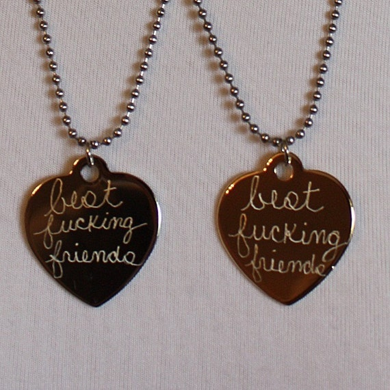 Best Fucking Friends.......Two BFF  Necklaces