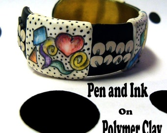 Tutorial - Pen and Ink on Polymer Clay
