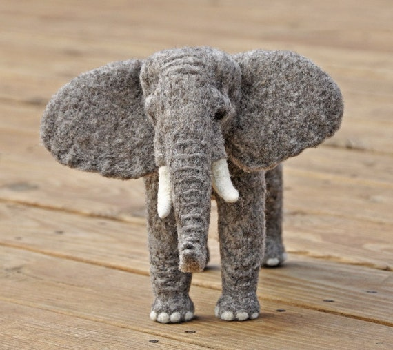Elephant Sculpture: OOAK               /PRICE REDUCED/