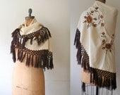 Vintage Shawl : 70s Gypsy Rose