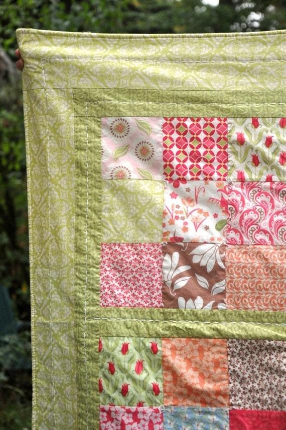 Baby girl crib quilt blanket