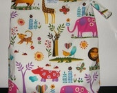 Wet Bag in Juicy Jungle and ProCare Waterproof Fabric, Snap Handle, Size Super, Custom