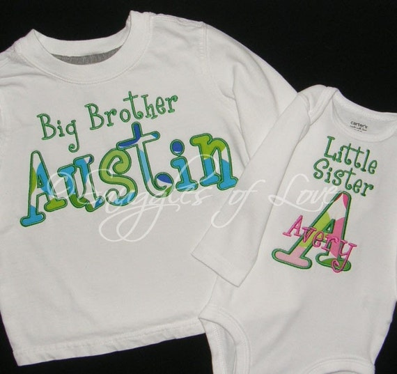 Personalized Big Brother Sister Shirt And Little By