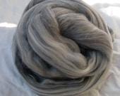 Merino Wool Roving - Grey - 2 oz.