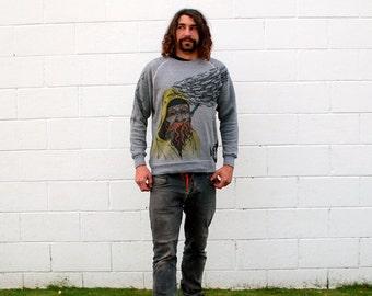 Fisherman Nautical Grey Crewneck Sweatshirt