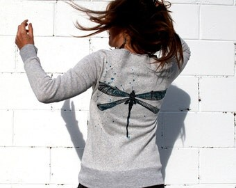 Dragon Flys on Flashdance Sweatshirt NOTE: this item now on ivory