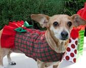 Dog Dress Christmas Plaid