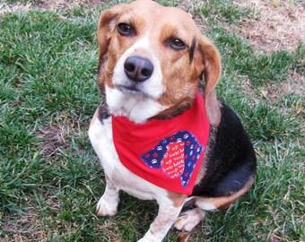 Dog Bandana Red Dog Silhouette Applique