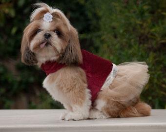 Formal Wear Dog Dress Harness Wedding Gold Glitter