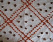 Vintage Chenille Fabric - Cinnamon and Brown Sugar Handmade Pops