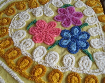 Heart of Gold vintage Chenille Fabric