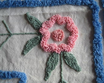 Vintage Chenille Fabric - Flowers