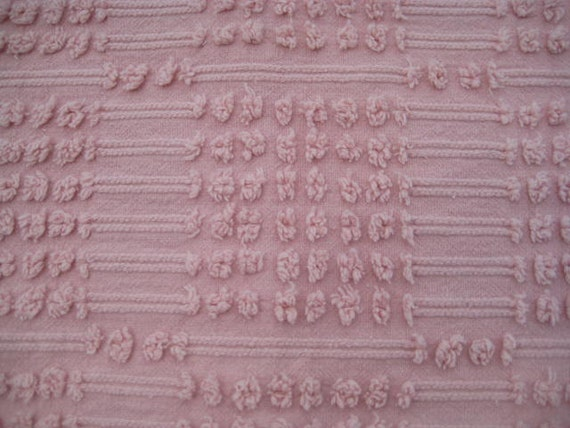 Rose Pink Morgan Jones Vintage Chenille Fabric