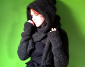 PDF knitting pattern- Minx Hooded Shrug
