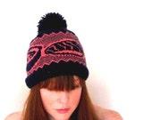 PDF knitting pattern-  fair isle sushi hat