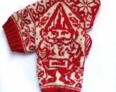 PDF Knitting Pattern- Garden Gnome Mittens