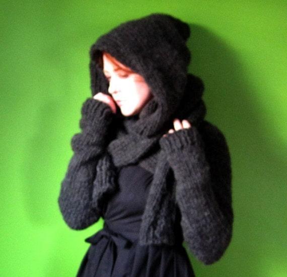 PDF knitting pattern- Minx Hooded Shrug