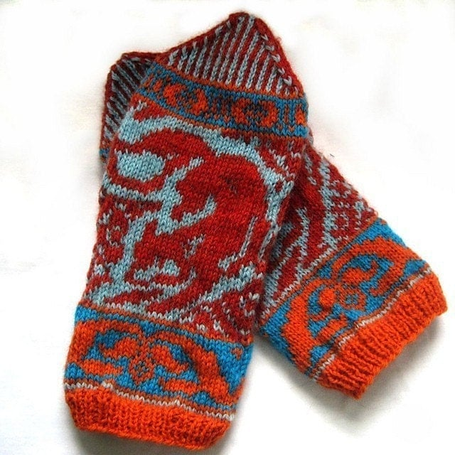 Knitting Pattern For Fox Mittens : PDF knitting pattern-Kitsune Mittens