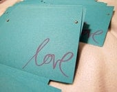 """150 Custom stamped with """"Love"""" cd sleeve ANY COLORS"""