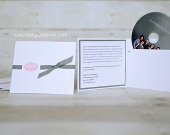 Custom cd sleeve/holder for digital photography business ANY COLORS {pack of 24}
