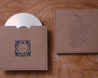 Personalized cd sleeve wedding favor ANY COLOR {pack of 150}