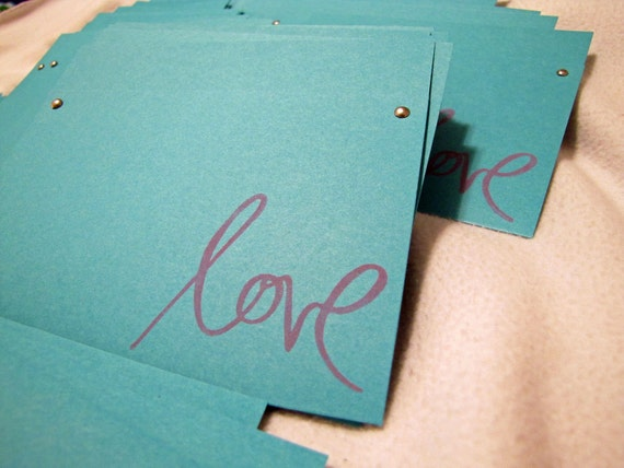 "150 Custom stamped with ""Love"" cd sleeve ANY COLORS"
