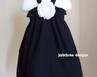 New Tuxedo Black Halter Top/Dress Toddler Infant Sundress size 4t-8y