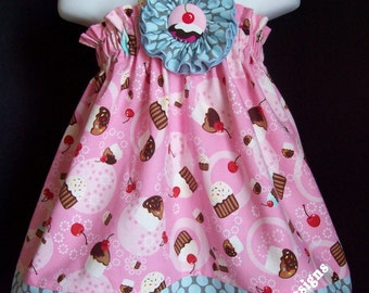 Cupcake Halter Top/Dress in your choice of size 6m-9m, 9m-12m, 12-18m,18-24mos. 2T or 3T