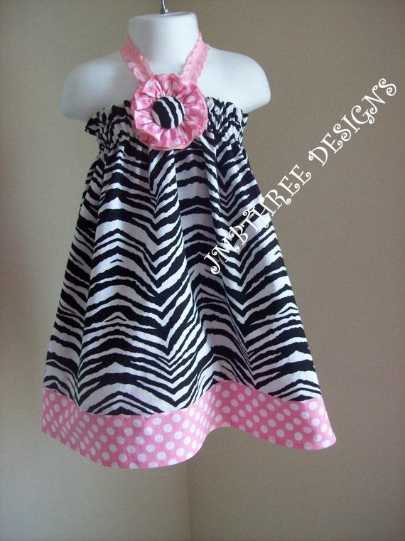 Zebra Halter Top/Dress Toddler Infant Sundress size 6m-9m, 9m-12m, 12-18m,18-24mos.,2t, or 3t