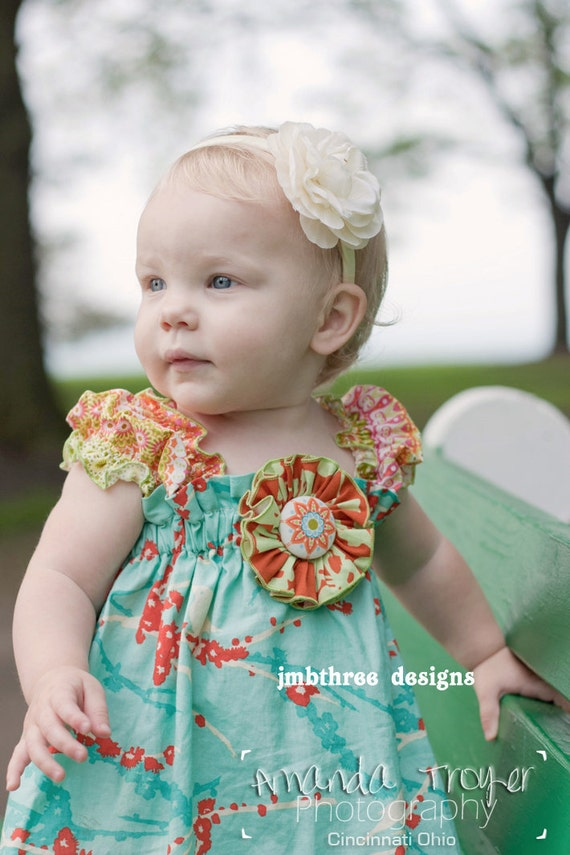 NEW Jade Sparrows Dress in your choice of size 0-3m, 3-9m, 9-12m, 12-18m, 18-24m, 2t,  or 3t