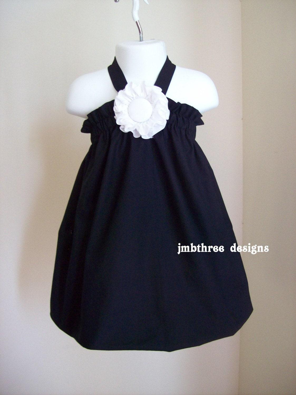 New Tuxedo Black Halter Top/Dress Toddler Infant Sundress size