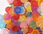 60 Tulip Bell Acrylic Flower Beads - Lil' bit of Everything -10mm