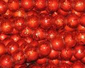 20 Drawbench Drizzlers Glass Beads 8mm Dark Orange