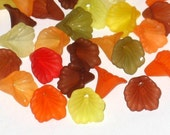 Acrylic Lucite Calla Lily Flower Beads 12mm Autumn Mix