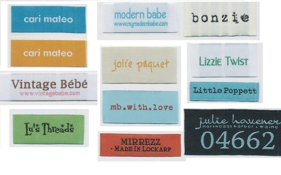 300 Custom Woven Text Only Clothing Labels (No Artwork and Folds) free font styles for Garment boutique - colors never fade - will be finished by professional quality control - All Woven Labels are supplied by USA Vendor - any questions Call 718-717-2228