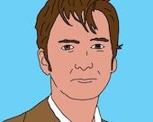 Doctor Who (David Tennant) Mini Art Print