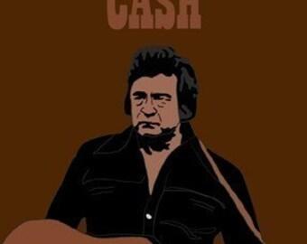 Johnny Cash Mini Art Print
