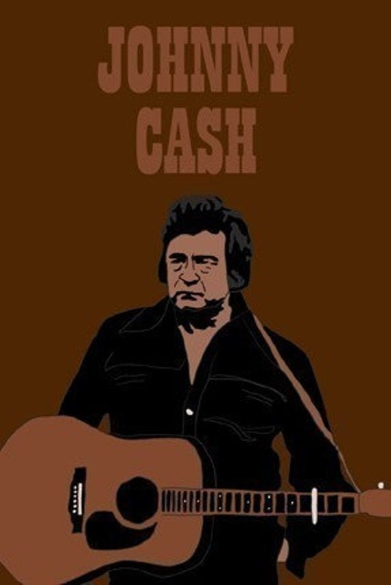 Johnny Cash Mini Art Print