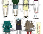 Paper Doll Set - Download File - Hattie Bean