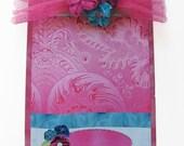 Altered Clipboard Pink Velvet Passion