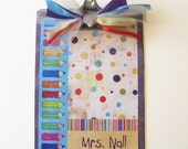 Teacher Gift Clipboard Pencil Altered Decorative Personalized 2 sided