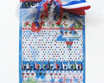 Red, White and Blue Stars Decorated Clipboard