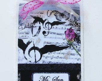 Personalized Music Clipboard Viennese Waltz