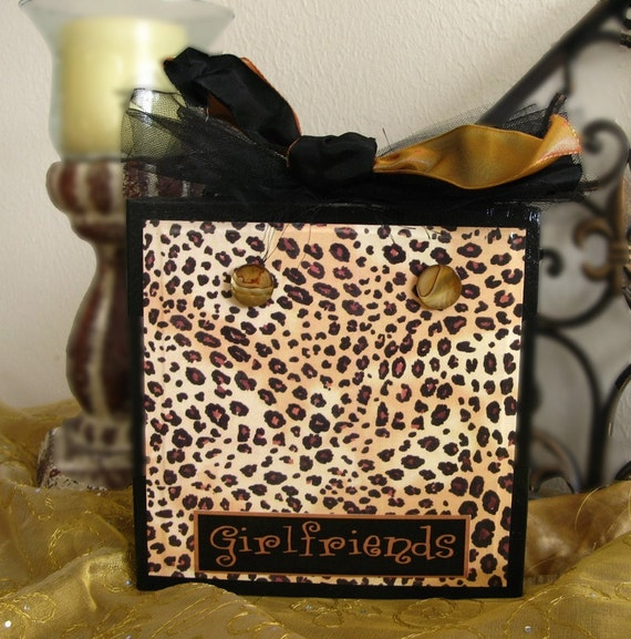 Leopard Custom Magnetic Message Photo Block Frame
