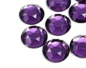 Jewel Cabochon Round Purple Amethyst Semi Facet 13mm